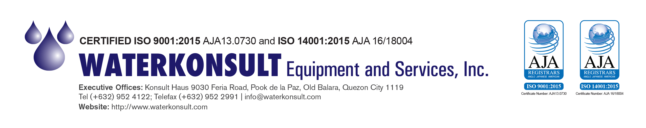 Waterkonsult Equipment and Services, Inc.